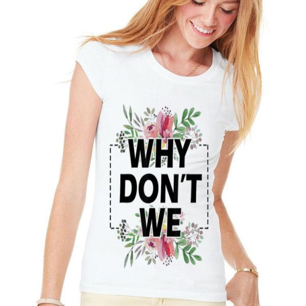 Why Don't We Floral shirt