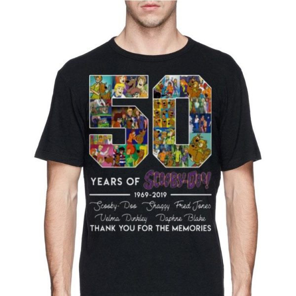 50 Years of 1969-2019 Scooby Doo Signature Thank You For Memories shirt
