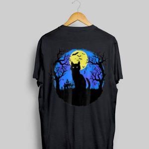 Black Cat at Night Halloween shirt
