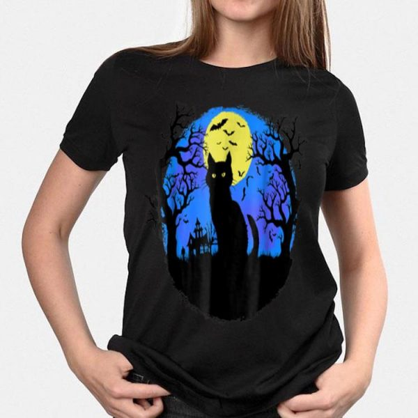 Black Cat at Night Halloween shirt