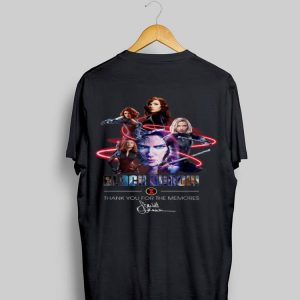 Black Widow Thank Your For The Memories Signature shirt