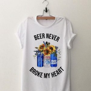 Bud Light Beer Never Broke My Heart shirt