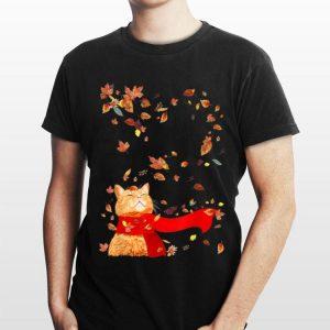 Cat Leaf Fall Hello Autumn shirt