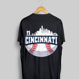Cincinnati Baseball Skyline Ohio Baseball shirt
