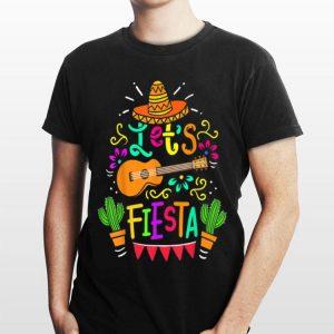 Cinco De Mayo Let's Fiesta Guitar Cactus shirt