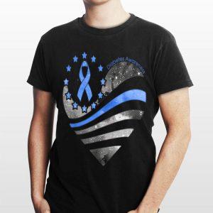 Diabetes Awareness heart American shirt