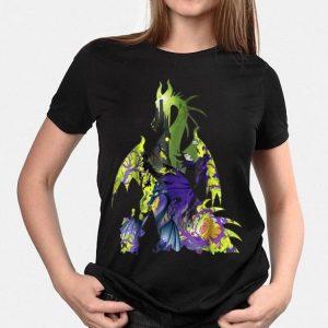 Disney Sleeping Beauty Maleficent Dragon Silhouette shirt