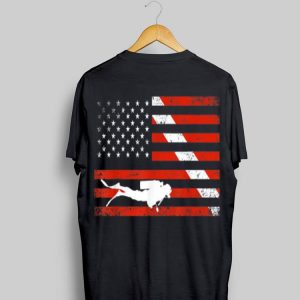 Diver Down American Flag shirt