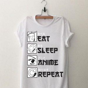 Eat Sleep Anime Repeat shirt