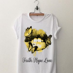 Faith Hope Love Lip Endometriosis Awareness shirt