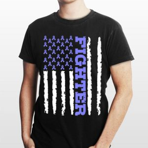 Fighter Cancer Awareness American Flag shirt