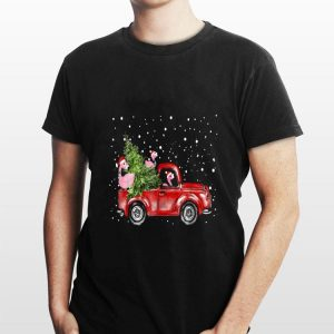 Flamingo Truck Christmas Tree shirt