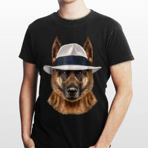 German Shepherd Dog in Fedora Hat shirt