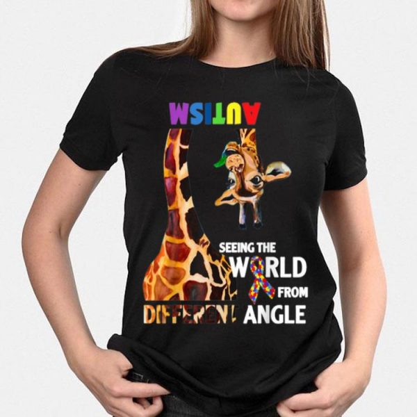 Giraffe Autism Seeing The World From Different Angle Cancer Awareness shirt