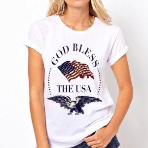 God Bless The USA Eagle American Flag shirt