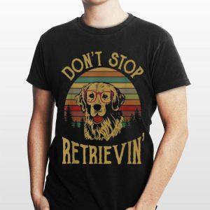 Golden Retriever Don't Stop Retrieving Sunset shirt