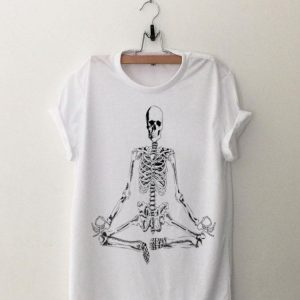 Halloween Meditating Skeleton Yoga shirt