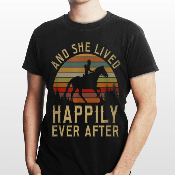 Horse And She Lived Happily Ever After Vintage shirt