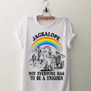 Jackalope Not Everyone Has To Be A Unicorn Camping Rainbow shirt