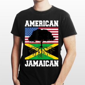 Jamaican American Flag Grown Roots shirt