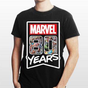 Marvel 80 Years of Comics Anniversary shirt