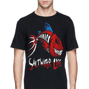 Saltwater Life fishbone American shirt
