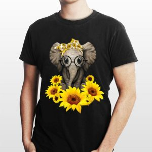 Sunflower Headband Elephant shirt