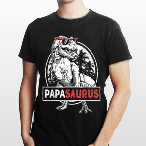 T rex Papa Saurus Dinosaur Sunglass shirt