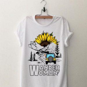 Wander Women Jeep Camping Mountain Sunflower shirt