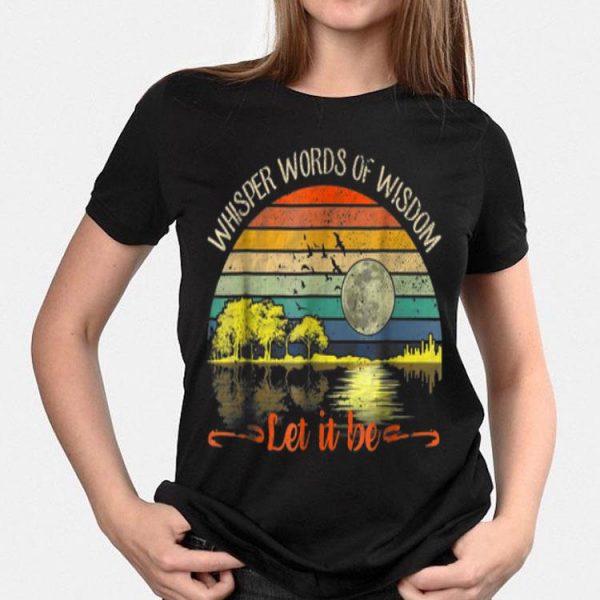 Whisper Words Of Wisdom Let It Be Vintage Guitar Lake shirt