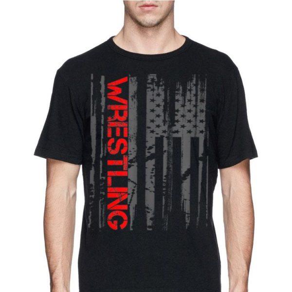 Wrestling Sport American Flag shirt