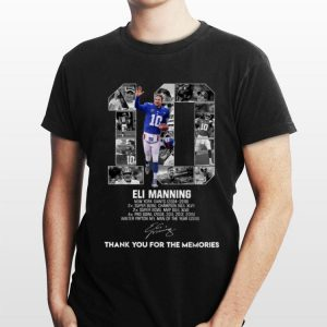 10 Eli Manning Thank You For The Memories Signature shỉt