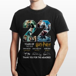 22 Years Of Harry Potter 1997-2019 Thank You For The Memories shirt