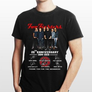 25th Anniversary 1994-2019 Foo Fighters Signatures shirt