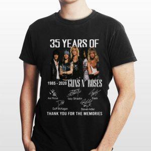 35th Years Of Guns N' Roses 1985-2020 Signature shirt