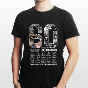 60 Years Of Oakland Raiders 1960 2020 Signature Thank You For The Memories shirt
