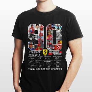 90 Years Of Scuderia Ferrari 1929-2019 Thank You For The Memories shirt