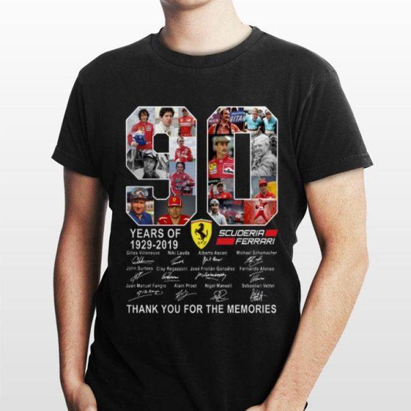 90 Years Of Scuderia Ferrari 1929-2019 Thank You For The Memories shirt