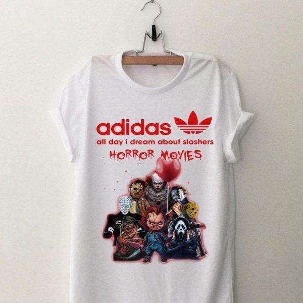 Adidas All Day I Dream About Slashers Horror Movie shirt