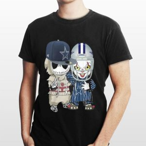 Baby Jack Skellington and Pennywise Dallas Cowboys shirt