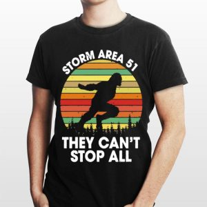 Bigfoot Storm Area 51 They Can't Stop All Vintage shirt