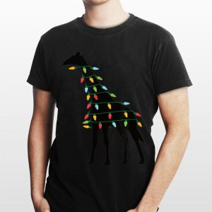 Christmas Lights Giraffe shirt