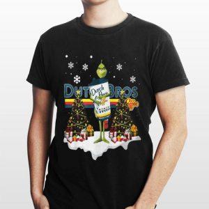 Christmas Tree Grinch Hug Dutch Bros Coffee shirt
