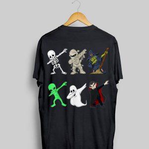 Dabbing Skeleton And Monsters Dracula Halloween shirt