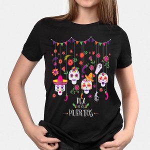 Dia De Los Muertos Day of the dead Hanging skulls shirt