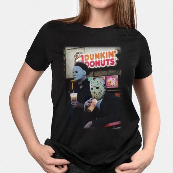 Drink Dunkin' Donuts Michael Myers And Jason Voorhees shirt