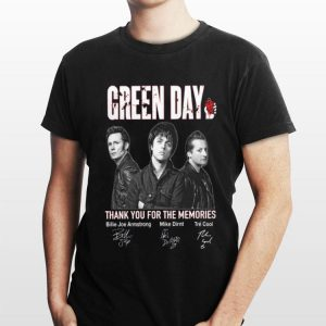 Green Day Signatures Thank You For The Memories shirt