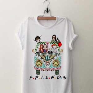 Halloween Friends Horror Movie Characters Hippie Bus shirt