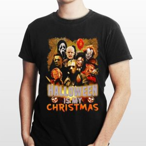 Halloween Is My Christmas Horror Movie Characters shirt