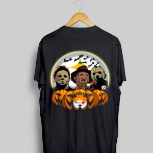 Halloween Pittsburgh Steelers Jason Leatherface Freddy shirt